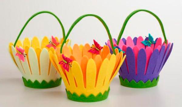 Выкройки цветов из фетра 16