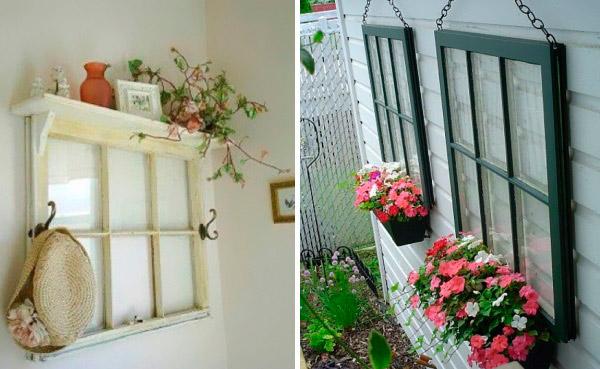 Как украсить старое окно своими руками