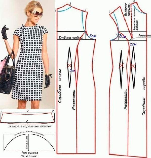 Выкройки женских платьев футляров