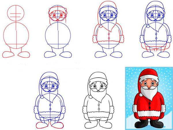 Статті: Як намалювати ялинку, малюємо Діда Мороза, простий малюнок ...